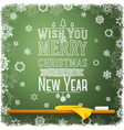 Wish you merry christmas and a happy new year vector image