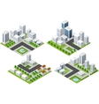Set 3d isometric vector image