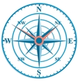 The original clock with wind rose vector image