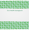 Health Eco Background vector image