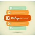 Vintage template for your infographic vector image vector image