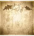 Vintage Acorn Grunge Background vector image vector image