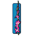 long orchid clip art blue vector image vector image