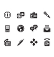 Silhouette Business and Internet icons vector image