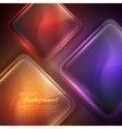 abstract background with transparent glass squares vector image