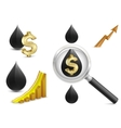 crude oil price vector image