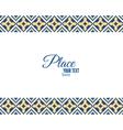 Pixel ethnic border and ornamental frame vector image
