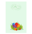 Easter eggs on the green grass vector image vector image