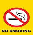 nosmoking8 resize vector image vector image