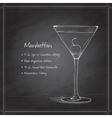 cocktail manhattan on black board vector image vector image