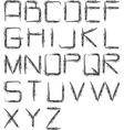 charcoal alphabet vector image