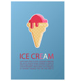ice cream vintage retro background vector image