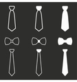 Necktie icon set vector image