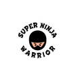 ninja boy cartoon vector image