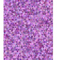 Purple regular triangle mosaic background design vector image
