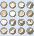Sea Shell Flat Icons Set vector image