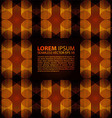 seamless orange glowing ethnic pattern vector image
