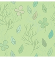 Seamless pattern on leaves theme vector image
