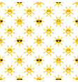 seamless pattern with sun icons vector image