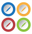 set of four icons - rolling pin vector image