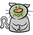 sick cat cartoon vector image