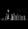 skyline of seattle vector image