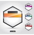symbol bright abstract talk origami concept vector image