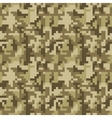 Pixel camo seamless pattern Brown desert or vector image