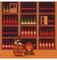 a wine cellar vector image
