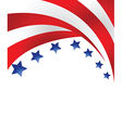 US flag background vector image vector image