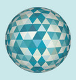 abstract 3d triangles sphere vector image