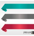 Origami ribbon banners vector image