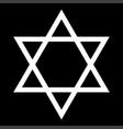 jewish star of david white color icon vector image