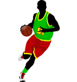 al 0639 basketball player 02 vector image vector image