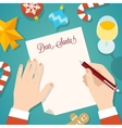 Letter to Santa Flat Style Christmas Card or vector image vector image