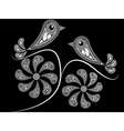 ethnic style birds vector image vector image