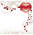valentines day template vector image