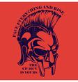 Spartan Helmet Gladiator heroic soldier vector image