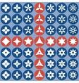 abstract icons shurike vector image