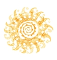 Abstract sun shape for your design vector image