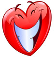 big smile heart vector image