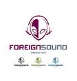 Foreign Sound Logo vector image
