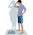 Male Anorexia vector image