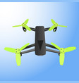 realistic remote air drone quad-copter with camera vector image