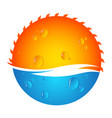 sun and water vector image