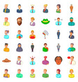 user icons set cartoon style vector image