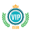 VIP club logo in flat style vector image