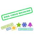 Zika Virus Warning Rubber Stamp vector image