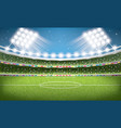 soccer stadium football arena vector image vector image