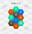 user outline icons set collection of hourglass vector image